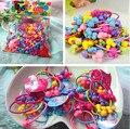 50 unids/pack Nueva Corea banda de goma de color caramelo Colorido Plástico Elásticos niños accesorios del Pelo Del bebé del tocado