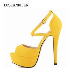 Loslandifen Women Fashion Platform Summer Party High Heels Sandals Shoe