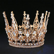 Moda desfile novia Tiara Rhinestone corona accesorios para el cabello boda pelo joyería expositor de vestido tocado reina diadema Prom