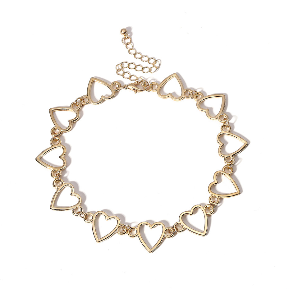 Ingemark Korean Sweet Love Heart Choker Necklace Statement Girlfriend Gift Cute Silver Color Necklace Jewelry Collier Femme 2018 8