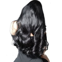250 Density Lace Front Human Hair Wigs For Women Brazilian Body Wave Natural Black Pre Plucked Lace Wigs Remy Wig Sunny Queen