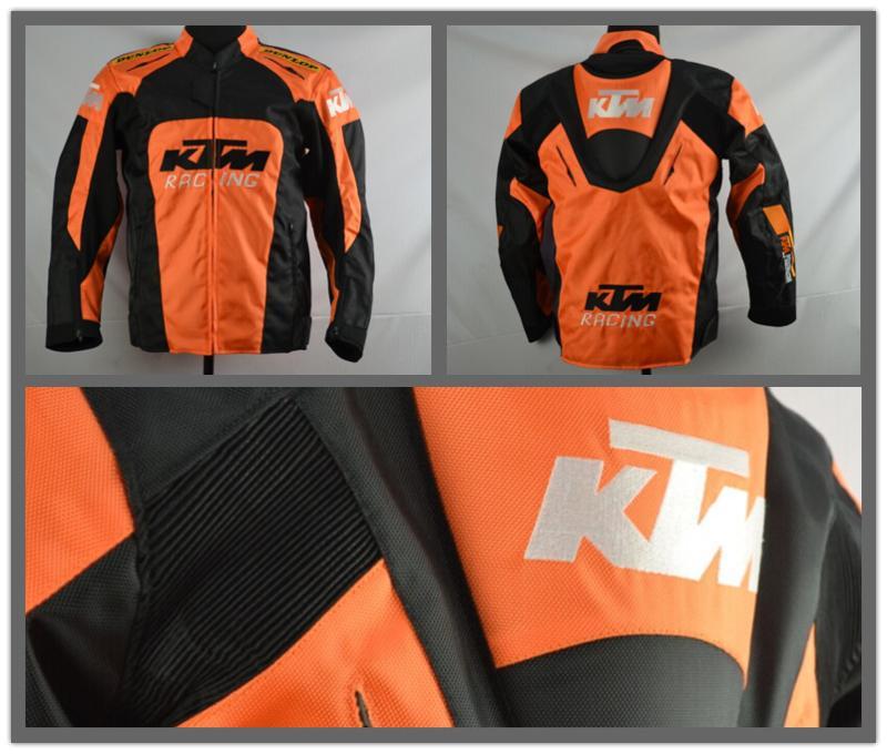 Prix pour 2016new KTM moto retour soutien Racing veste oxford vêtements moto veste grande taille avec équipement de protection taille M à XXXL