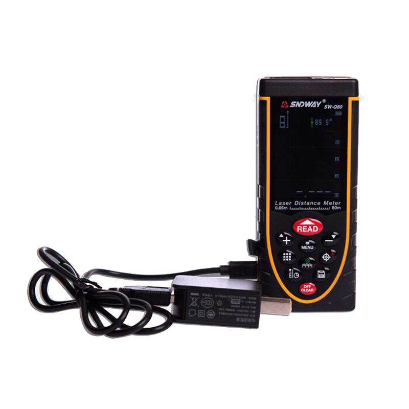 SW-Q80 Digital SNDWAY 0.05~80M talking device distance meter/Laser Rangefinders Bubble level Area/volume M/Ft/in tool  цены