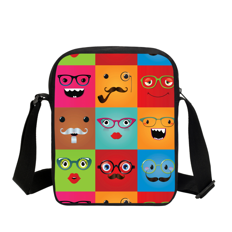 069248a3e73 2017 Fashion Cute Emoji Messenger Bags Funny Expression Print Boy Kids  Crossbody Bags Children Travel Small Bags Girl Casual Bag