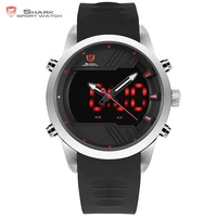 Sawback Angel Shark Sport Watch NEW Edition LED Black Red 3D Dial Digital Date Alarm Dual