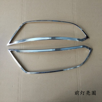high quality ABS Chrome Front headlight Lamp Cover trim For Ford Ecosport 2018 Car styling
