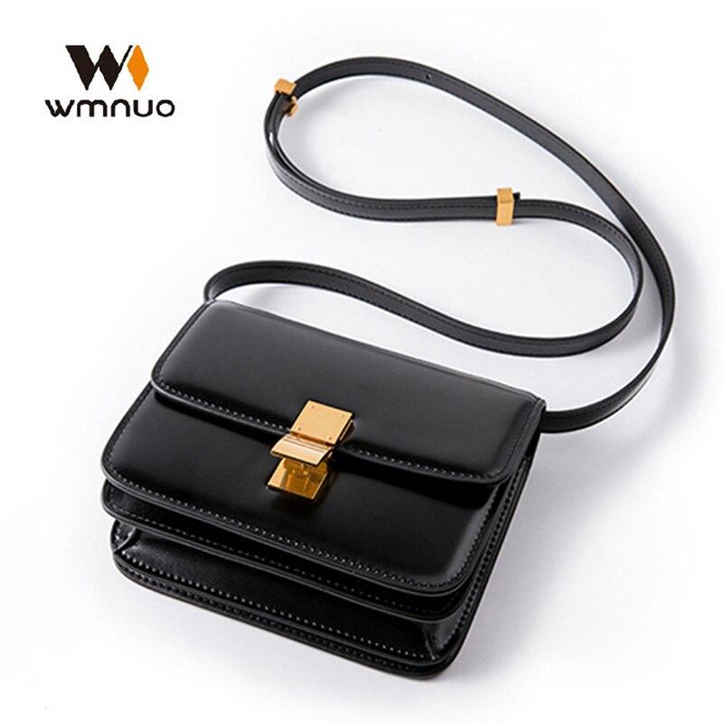 Wmnuo Brand Women Handbag Small Flap Bag Genuine Leather Women Shoulder Crossbody Messenger Bags 2020 Fashion Lady Shopping Bag
