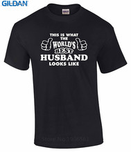 2017 New Fas hions Custom T Shirts Online Crew Neck Men Novelty Short Worlds Best Husband Gift For  Tees