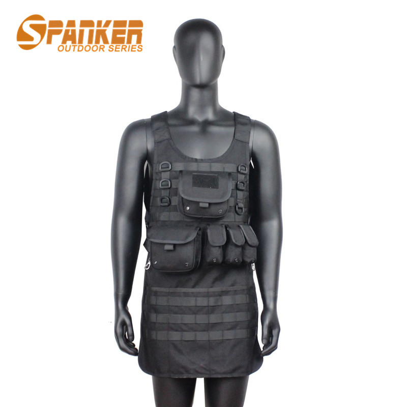 ФОТО 1000D Tactical Military Molle Vest with Pouch Multifunctional Airsoft Paintball Vest Durable Quick Drying Repair Worker Overalls