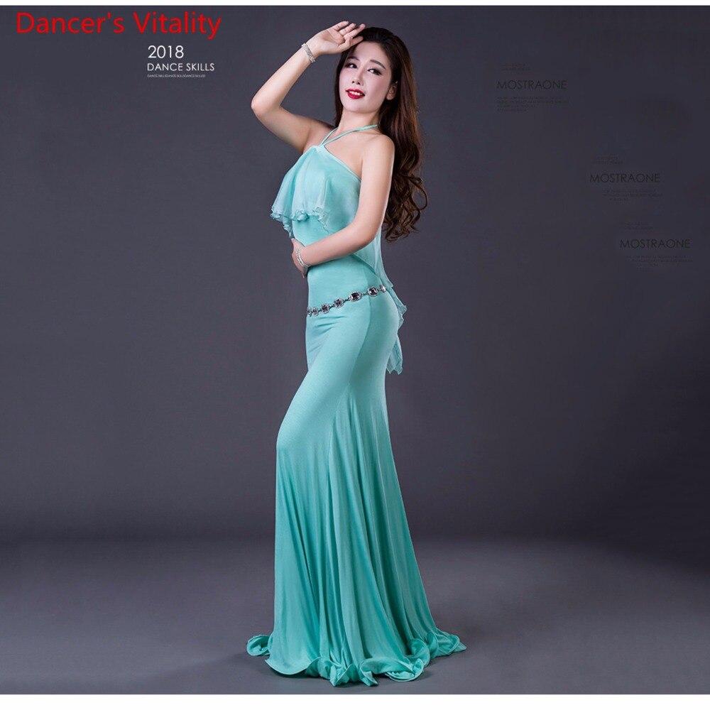 2018 New Modal Belly Dance Performance Dress Elegant Sexy Belly Dance Costumes Dresses Women