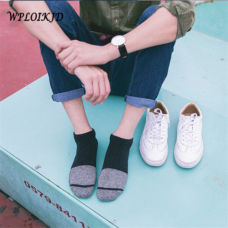 [WPLOIKJD] Harajuku Cotton Comfort Men Socks No-Show Crew Funny Happy Socks Moisture Control Arch Support Deodorant Low Cut Sock