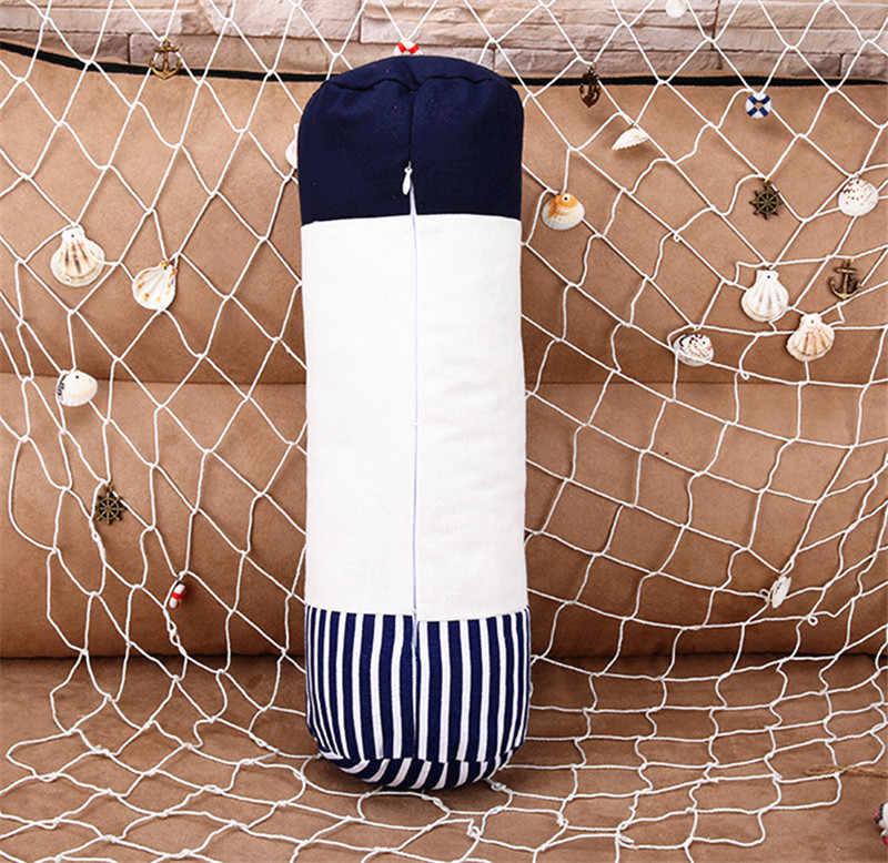 Âncora Marinha cultura Lance Fronha memória Algodão Almofada de linho 3D Com Inner do Marinheiro para o Sofá Quarto Início Decorativa