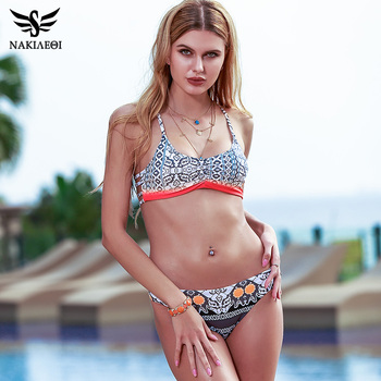NAKIAEOI 2018 Sexy Bikinis Women Swimsuit Push Up Swimwear Female Brazilian Bikini set Bandeau Summer Beach Bathing Suit Biquini 2