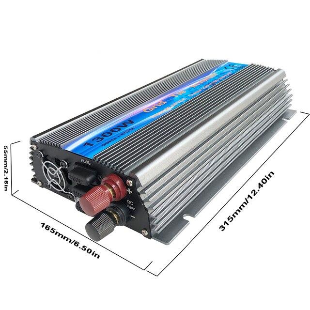 1300W 1500W 1800W Grid Tie Solar Inverter, Input 18V, 30V,36VDC, Max 1500W solar or wind power, MPPT function, high quality 2