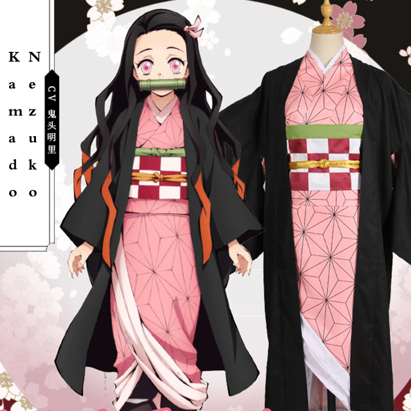 Demon Slayer Kimetsu no Yaiba Cosplay Costumes Kamado Nezuko Cosplay Costume