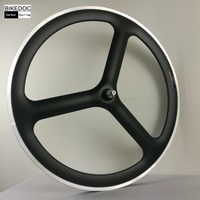 Carbon 3 Spoke Wheel With Alloy Brake Surface 700c Alloy Carbon Spoke Wheel Fixed Gear Ruedas