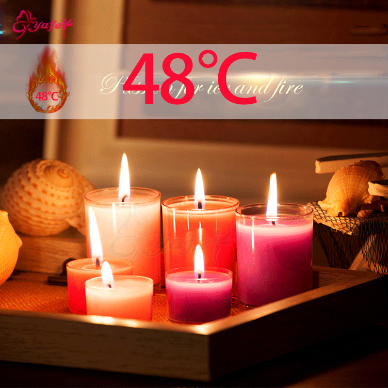 1pcs/set Low Temperature Candles Drip Wax Adult Sex Game BDSM Bondage Sensual Wax Erotic Toy Intimate Sex Toys For Women Men