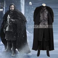 Игра престолов костюм Джон Сноу костюм наряд с пальто Хэллоуин одежда о Мужчины Косплей Костюм Полный комплект Экзотическая одежда