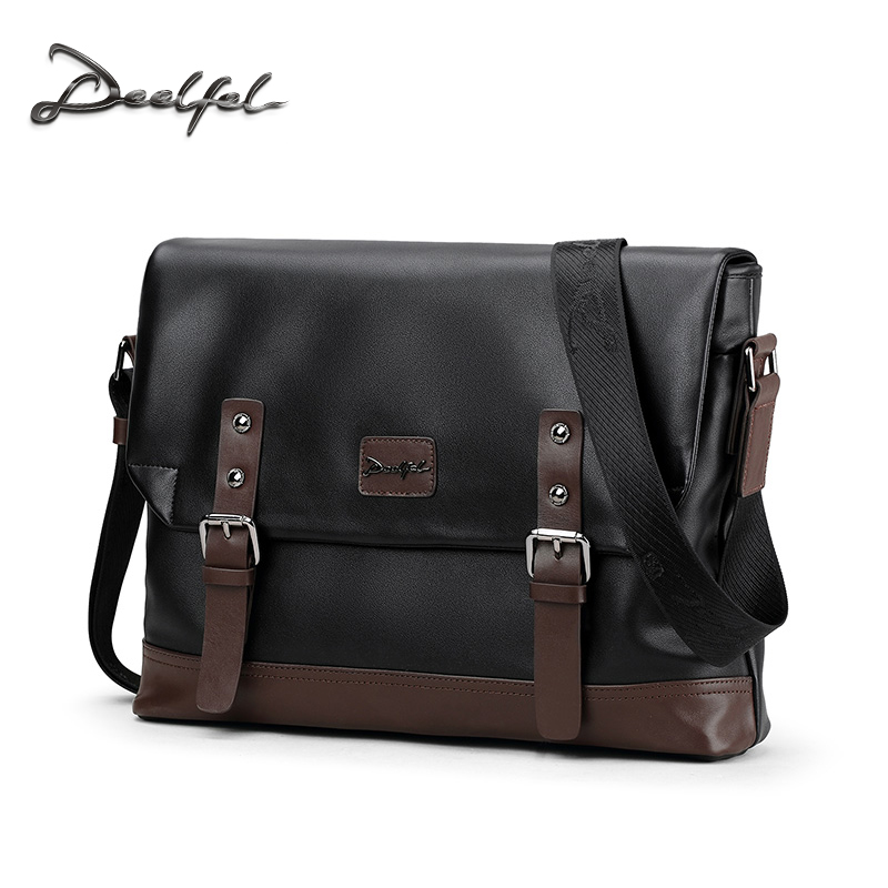 Deelfel New Brand Shoulder Bags For Men Messenger Bags Male Cross Body Bag Casual Men Commercial Briefcase Bag Designer Handbags deelfel new brand shoulder bags for men messenger bags male cross body bag casual men commercial briefcase bag designer handbags