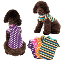 New Pet Dog Shirts Four colour printing Puppy T-Shirt  Small and medium dog vest summer comfortable or Cat Clothes