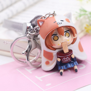 Image 4 - Kawaii Love Live Keychain Minami Kotori Kousaka Honoka Maki Nishikino Cos Himouto! Umaru chan Doma Umaru PVC Figure Pendants Toy