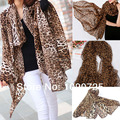 Hot Novo Estilo de Moda Venda Quente Longa seção Leopardo Tigre Chiffon Cachecol Cachecóis Mulheres Animal Print Quente Favorito Xale Protetor Solar