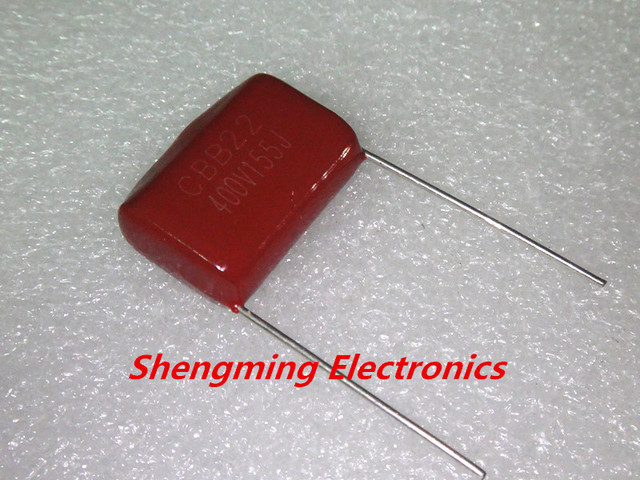 10pcs 400V 155J 1.5uf 5% P20=MM CBB Capacitor