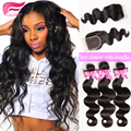 brazilian body wave with closure 7a brazilian body wave 3 bundles with lace closure human hair bundles lace closure body wave