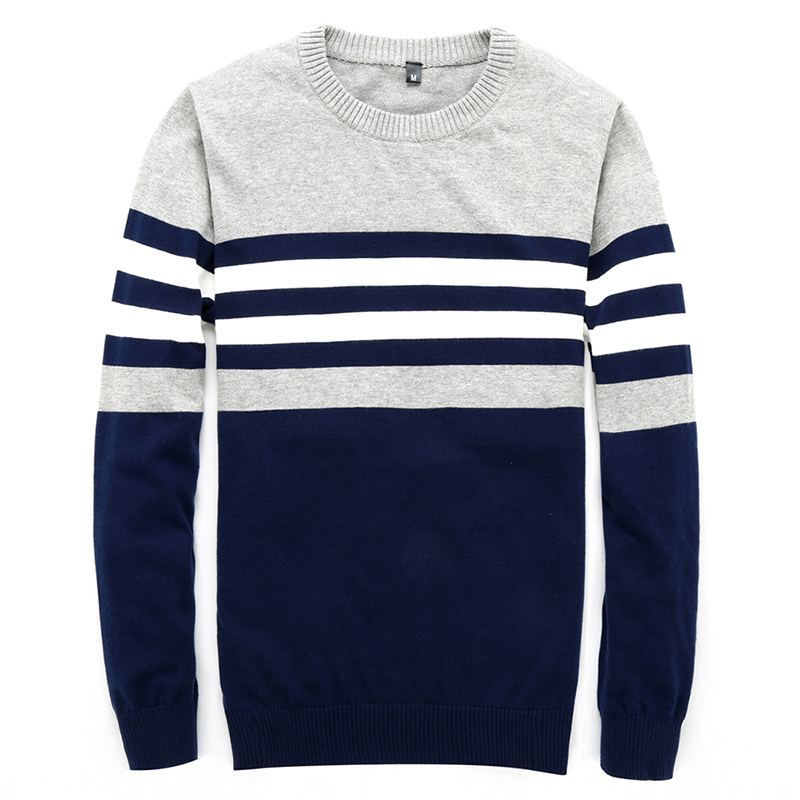 Vogue Sweater Men Nice New Vogue Casual Pullover Men Autumn Round Neck Patchwork Quality Knitted Brand Male Sweaters