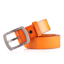 Retro Pin Buckle Genuine Leather Belts Alloy Business Cow Soft Mens Belt Luxury Brand 4 Colors Fashion New Male