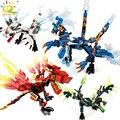 1 комплект ниндзя-Дракон строительные блоки Совместимость с legoingly Ninja кирпичи экшн KAI JAY ZANE Cole фигурки обучающие игрушки для детей