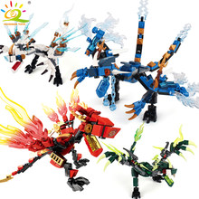 1set Ninja Dragon Building Blocks Compatible legoingly Ninja Bricks Action KAI JAY ZANE Cole Figures Enlighten Toys for Children(China)