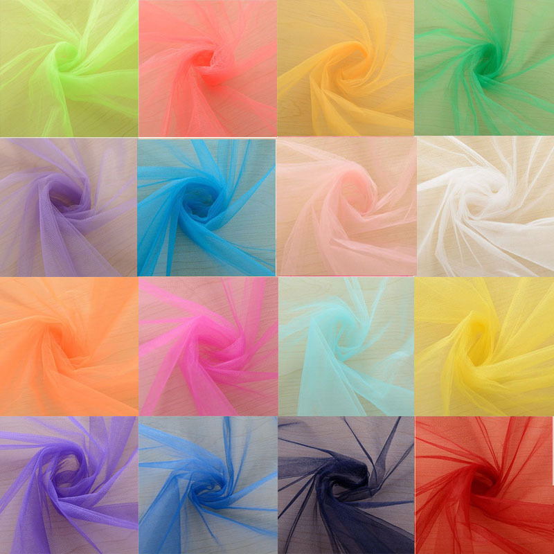 48cmx45m crystal organza tulle fabric silk flower diy skirt marriage door for wedding party decoration supplies 5d - Cheap Party Decorations