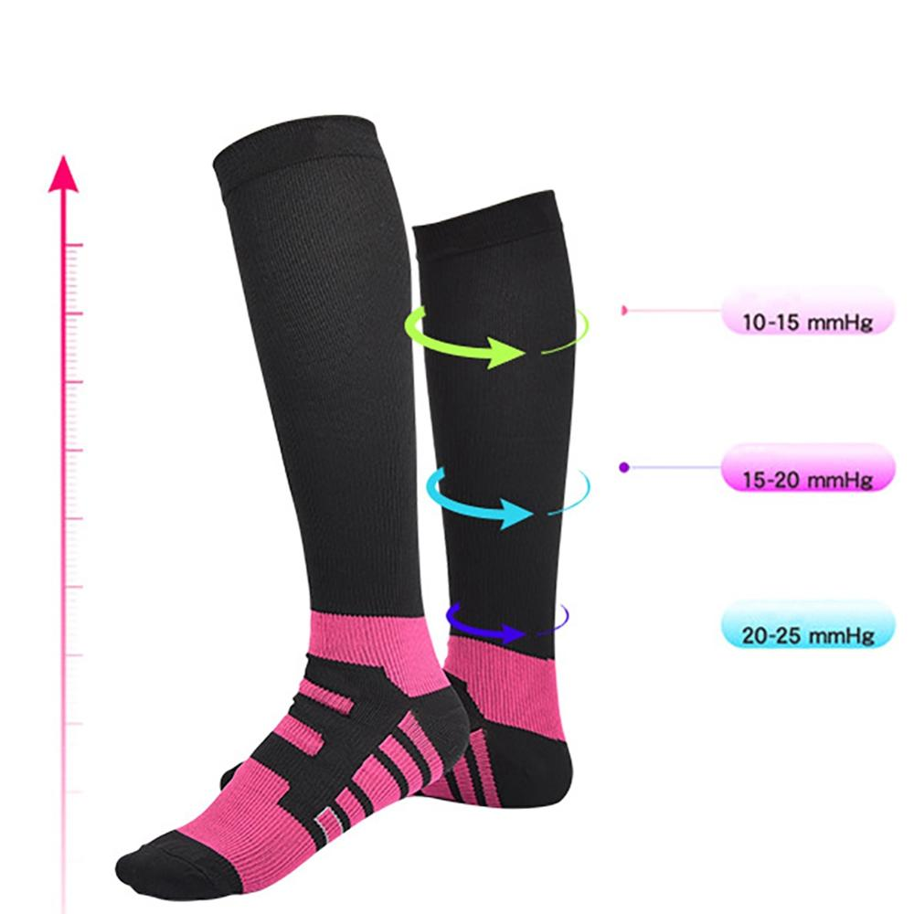 Quick Drying Compression Socks Casual Style Knee High/Long Sweat Absorption Hosiery Marathon Running Football Sneaker Socks
