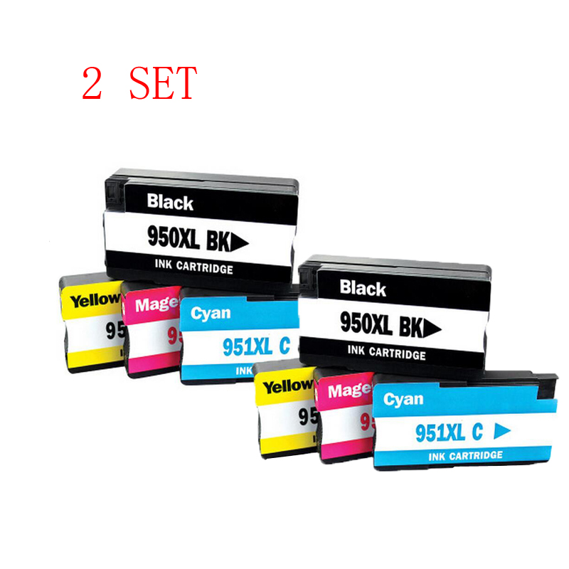 2 Set for hp950 951 950 XL 951XL Refillable Ink cartridge for hp 8610 8620 8630 8640 8660 8615 8625 8600 8100 Printer