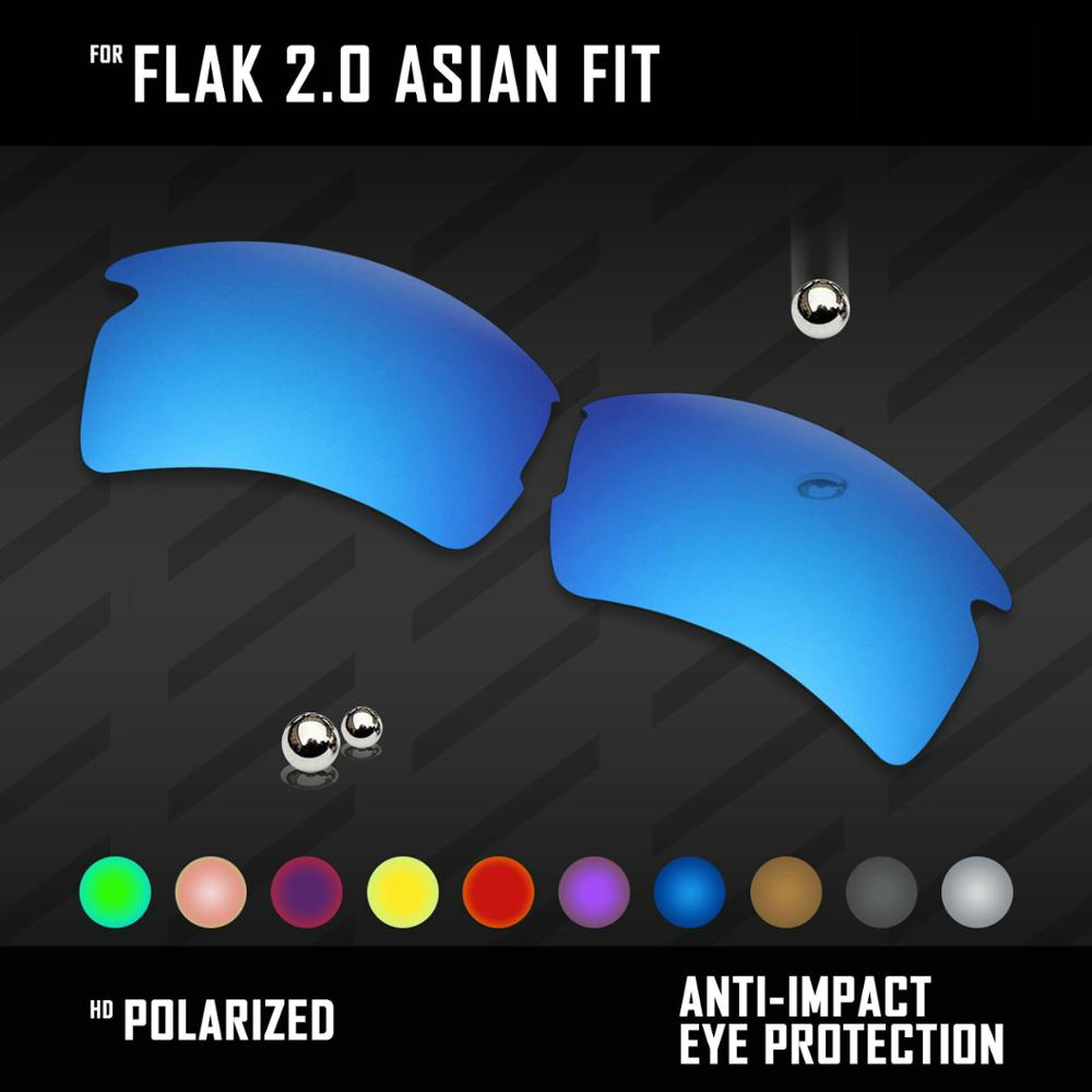 OOWLIT Lenses Replacements For Oakley Flak 2.0 Asian Fit OO9271 Sunglasses Polarized - Multi Colors