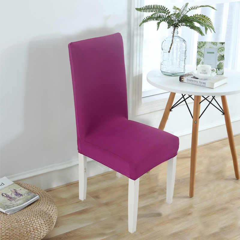 Moderne couleur unie chaise couverture Spandex Stretch élastique mariage Banquet chaise couvre salle à manger siège couverture pastorale hôtel couverture