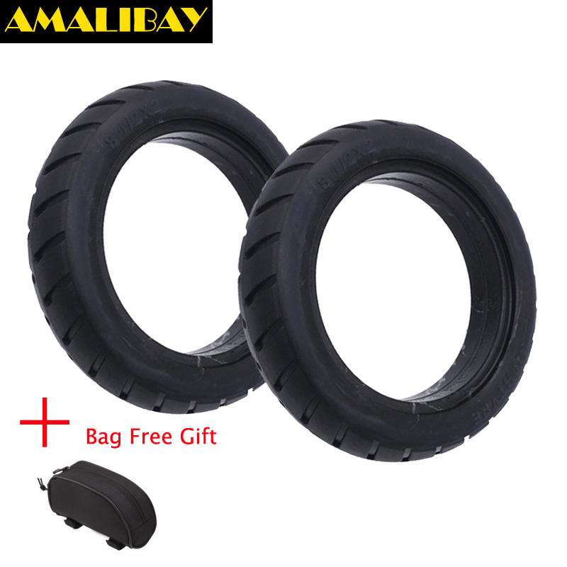 2pcs Amalibay Scooter Tire Vacuum Solid Tyre 8 1/2X2 for Xiaomi Mijia M365 Electric Skateboard Skate Board Avoid Pneumatic Tyre