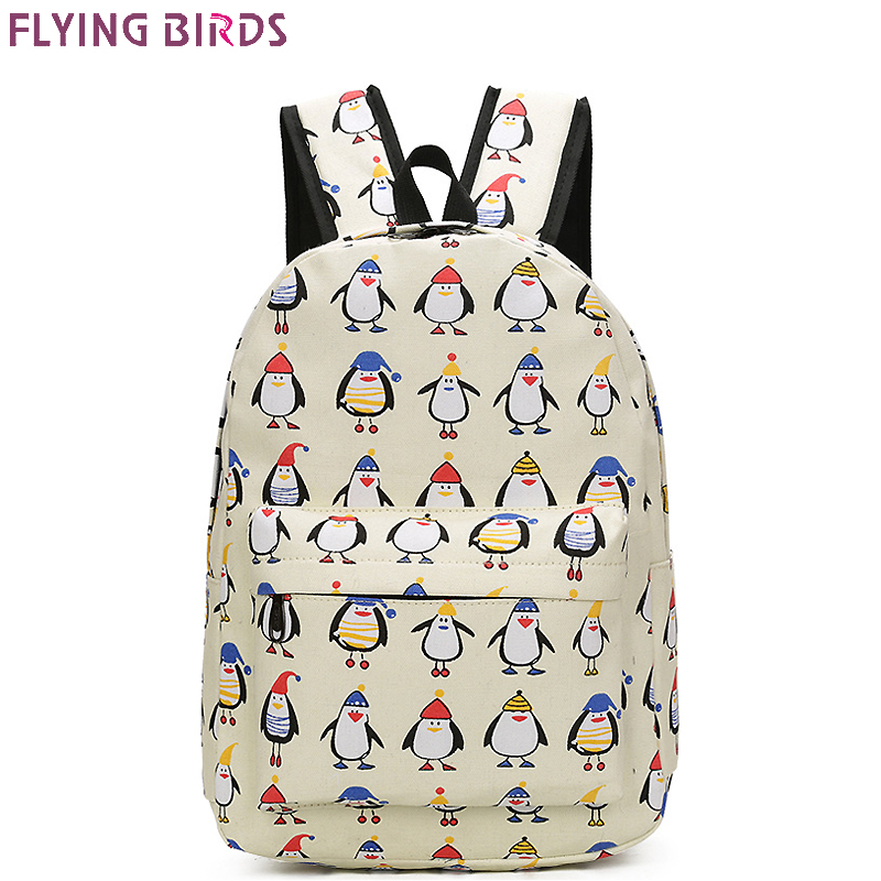 FLYING BIRDS carton School Bags For Teenagers Girls Printing Backpacks canvas computer backpack Bookbag Travel bag fashion patchwork school bags for girls or boys children backpacks cute carton shoulder fashion school backpacks birds pattern bb0109