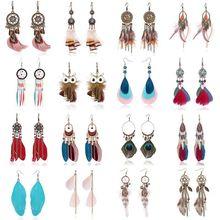 RINHOO Tassel Earrings For Women Ethnic Big  Earrings Bohemia Fashion Jewelry Trendy Cotton Rope Fringe Long  Earrings