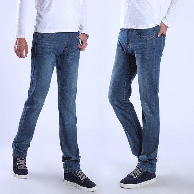 Atacado Marca de Moda jeans reta calças de cintura alta calças jeans roupas  masculinas dos homens 76e2ce22823