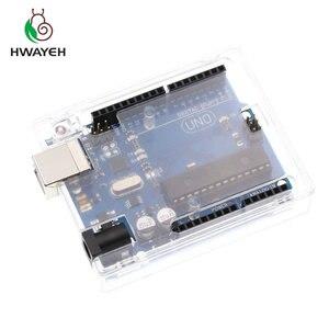 Высококачественный один Комплект UNO R3, официальная коробка ATMEGA16U2 + чип MEGA328P для Arduino UNO R3, макетная плата + USB-кабель