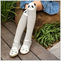 2016 Gray panda cotton cartoon To keep warm girls straight socks children stereo ear leg warmers baby socks for 2-13 year