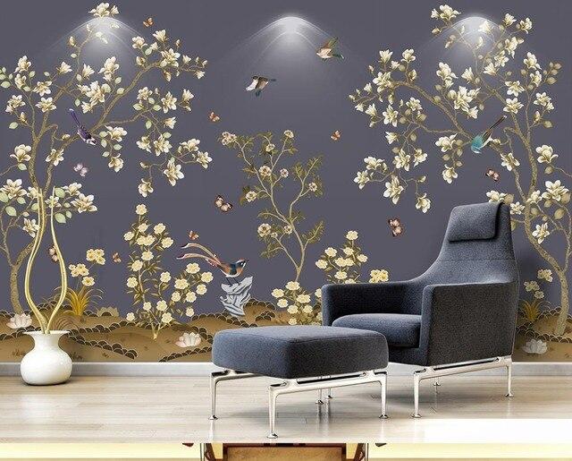 Nieuwe Chinese 3D Behang Mural vliesbehang woonkamer Slaapkamer ...