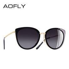 AOFLY BRAND DESIGN Women Sunglasses Vintage Style Metal Frame ladies Polarized Sun glasses Shades Female Eyewear Gafas A139