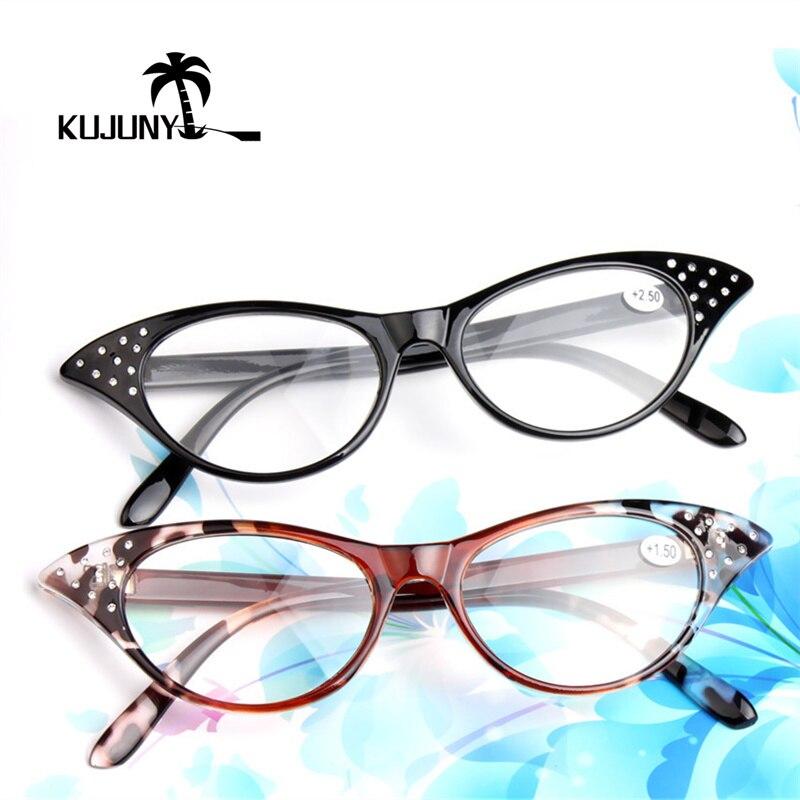 RüCksichtsvoll Kujuny Katze Auge Lesebrille Presbyopie Brille Für Frauen Hyperopie Brillen 1,5 2,0 2,5 3,0 3,5 Dioptrien Schwarz Klar Und Unverwechselbar Damenbrillen Lesebrillen