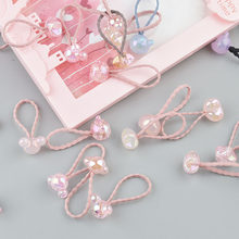 Girls Cartoon Rubber band Candy Mouse Flower Hair rope Princess Kids Hair circle Elastic Hairband Transparent Hair Rubber(China)