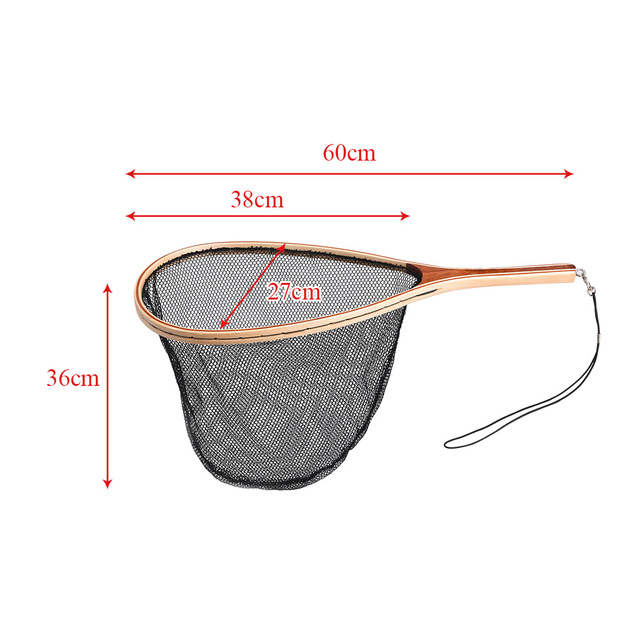 Best No.1 Fly Fishing Net Mesh Wooden Handle Fishing Accessories cb5feb1b7314637725a2e7: Nylon|Rubber