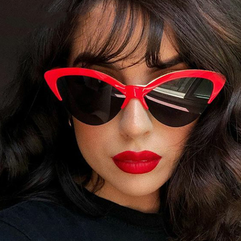 Butterfly Cat Eye Sunglasses Women 2018 Brand Designer Blue Fashion Sun Glasses For Women Trendy Tinted Color Shade UV400