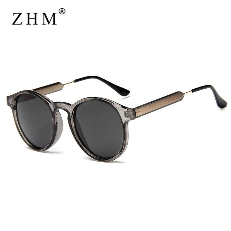 Круглые Солнцезащитные очки в стиле ретро, прозрачные солнцезащитные очки для женщин и мужчин, 2020